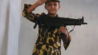 pak army kids training at home