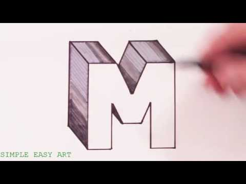 How To Draw The Letter M In 3d Youtube Youtube