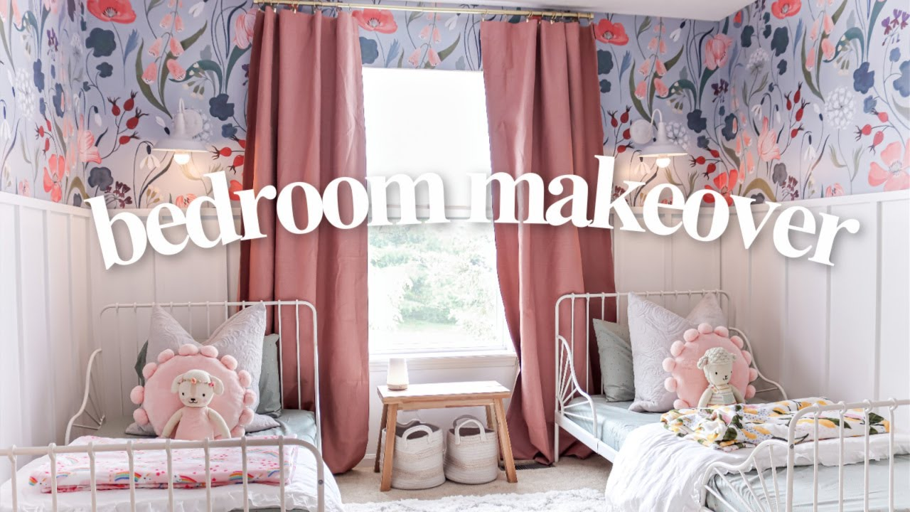 EXTREME GIRLS BEDROOM MAKEOVER 2021 | DIY Room Transformation