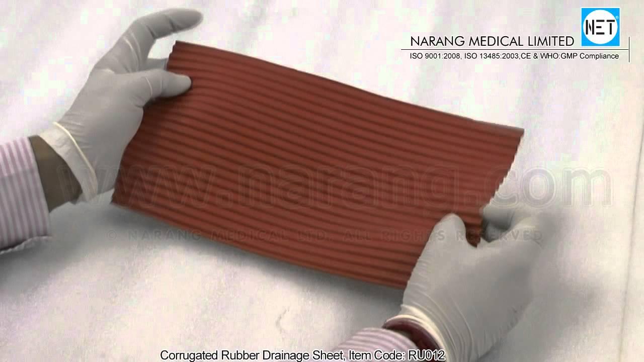 Corrugated Rubber Drainage Sheet Item Code Ru012 Youtube
