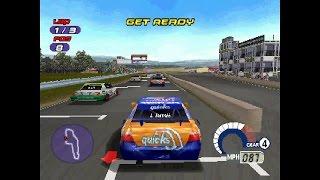 Jarrett & Labonte: Stock Car Racing ... (PS1) 60fps