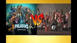 сравнение персонажей из team fortress 2 и paladins