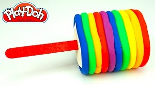 Пластилин Плей-до делаем мороженое. Учим цвета радуги. Игрушкин ТВ