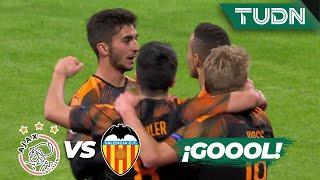 ¡Gol del Valencia que deja fuera al Ajax  | Ajax 0 - 1 Valencia | Champions League J6 Grupo H | TUDN