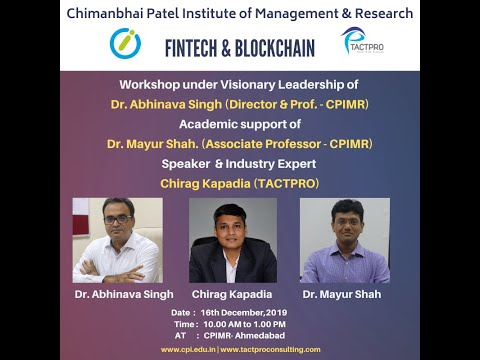 CPIMR – Fintech & Blockchain Workshop – Dec-2019