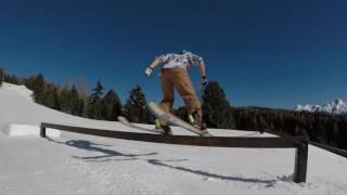 GoPro hero 5 skiing freestyle park lusia 2017
