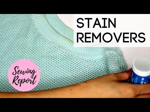 Best Stain Removers For Clothes + Fabric? 👗 Review & Demo | SEWING REPORT