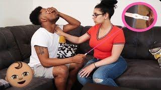 I'M PREGNANT 👶🍼   GIRLFRIEND PREGNANCY PRANK ON BOYFRIEND *GOES WRONG* 😢😳 #PRANKS