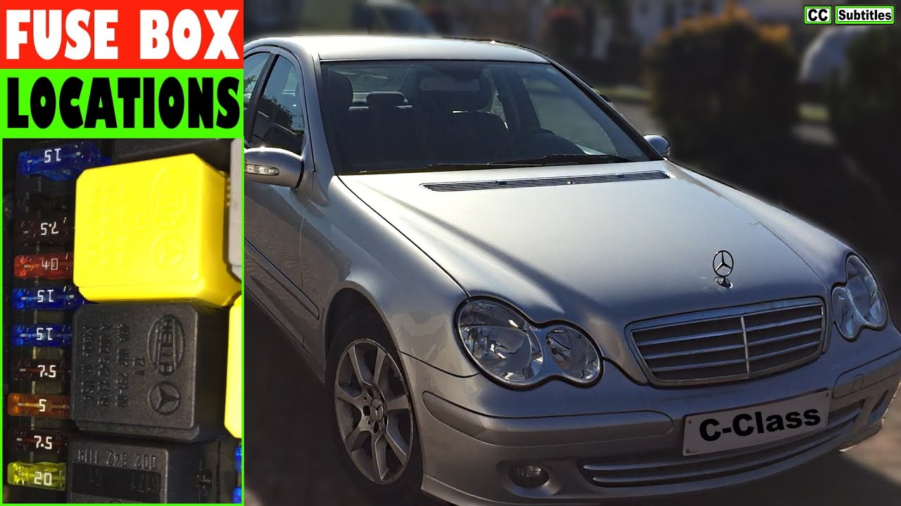 Mercedes C Class Fuse Box Locations And How To Check Fuses