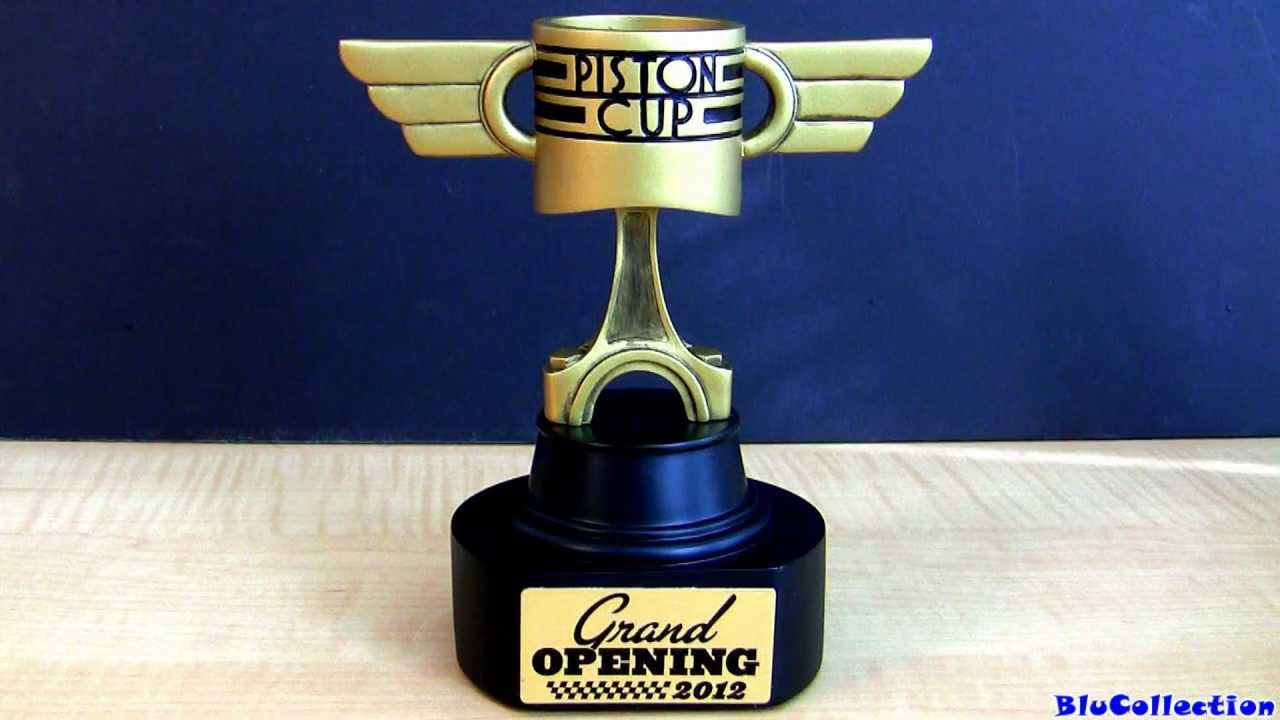 Disney Cars Land Piston Cup Trophy Limited Edition Silver - Piston car show trophies