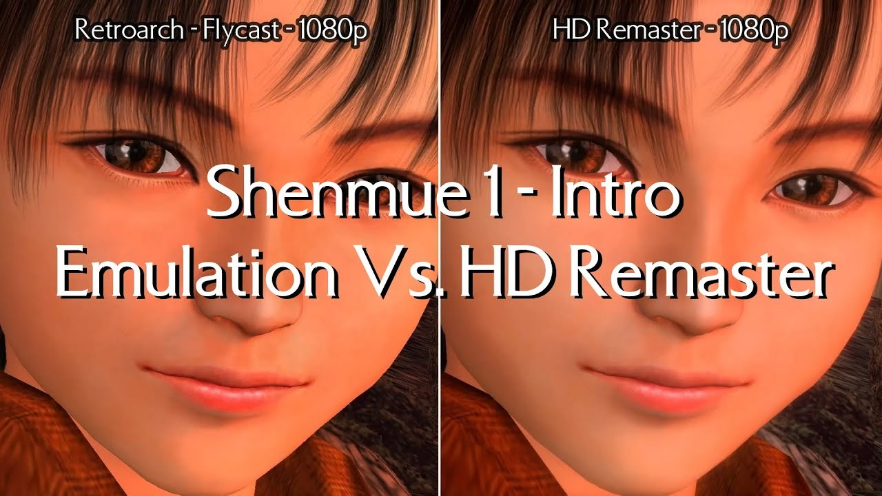 Shenmue 1 - Intro - Emulation Vs  HD Remaster side by side