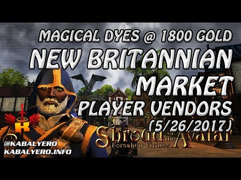 New Britannian Market, Magical Dyes @ 1800 (5/26/2017) 💰 Shroud Of The Avatar Market Watch