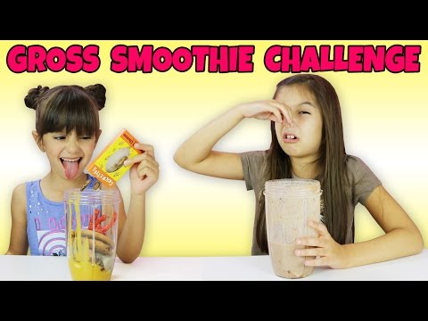 SMOOTHIE CHALLENGE Gross food - Bean Boozled, Crickets, Baby Food and more - Kids Edition