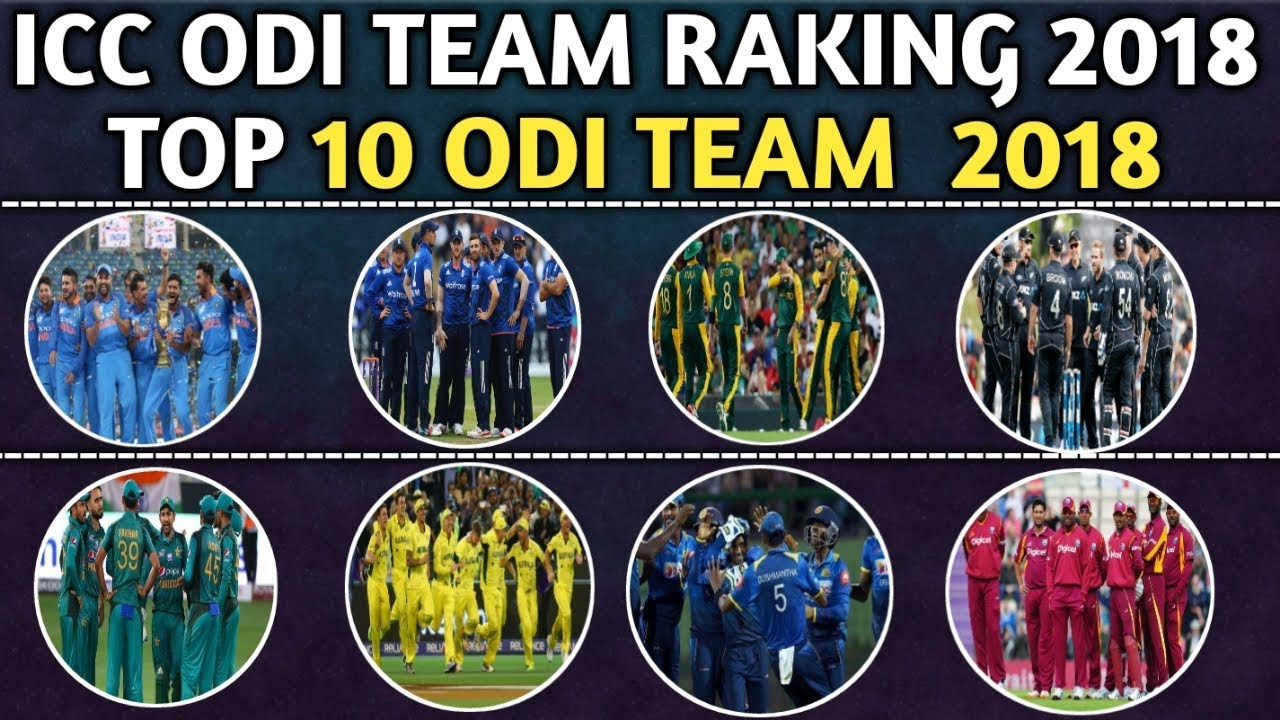 ICC Latest ODI Team Ranking 2018 |Top 10 ODI Teams 2018 | After Asia Cup Latest Teams  Ranking