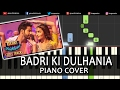 Badri Ki Dulhania Badrinath Ki Dulhania|Varun Alia||Hindi Song|Piano Chords Tutorial Instrumental