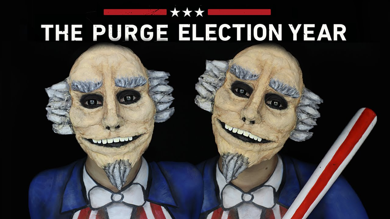 Uncle Sam Halloween SFX Makeup Tutorial | THE PURGE MINI SERIES ...