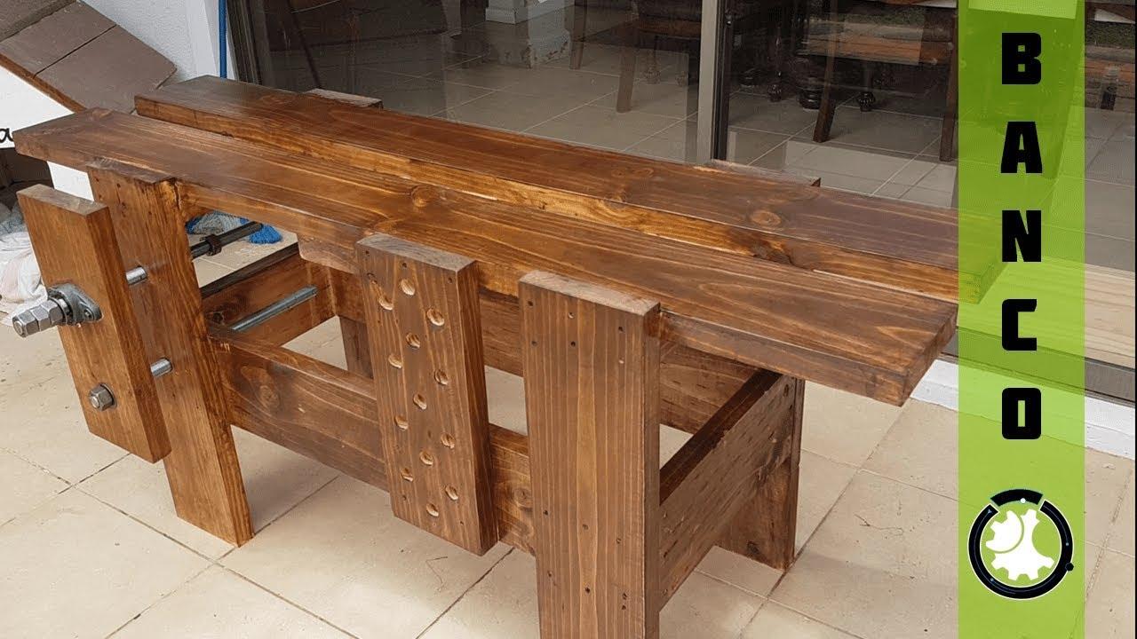 Como hacer banco carpintero de madera facil y barato - Como hacer bancos de madera ...