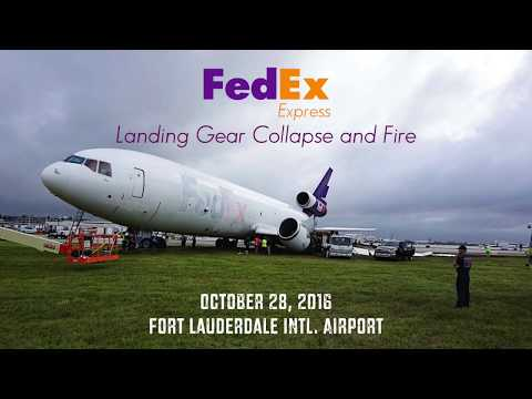 FedEx Express 910: Gear Collapse, Fire, Fuel Tank Explosion