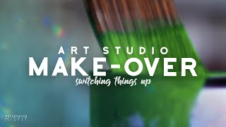Art Studio Make Over - Artist Vlog