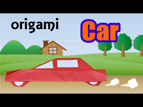 cool origami car for kids how to make a paper vehicle sedan car step by step diy craft