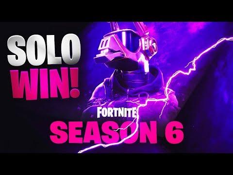 Season 6 | Solo Win | Fortnite | No Commentary