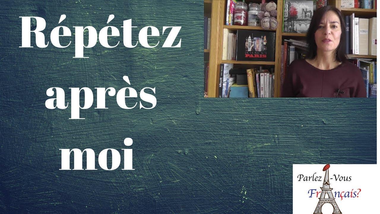 Exercices de prononciation en français - YouTube