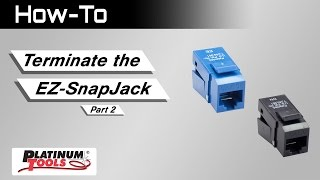 Terminating the EZ-SnapJack: Part 2: Cables with large spline