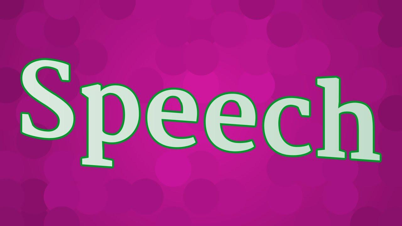 SPEECH pronunciation • How to pronounce SPEECH - YouTube