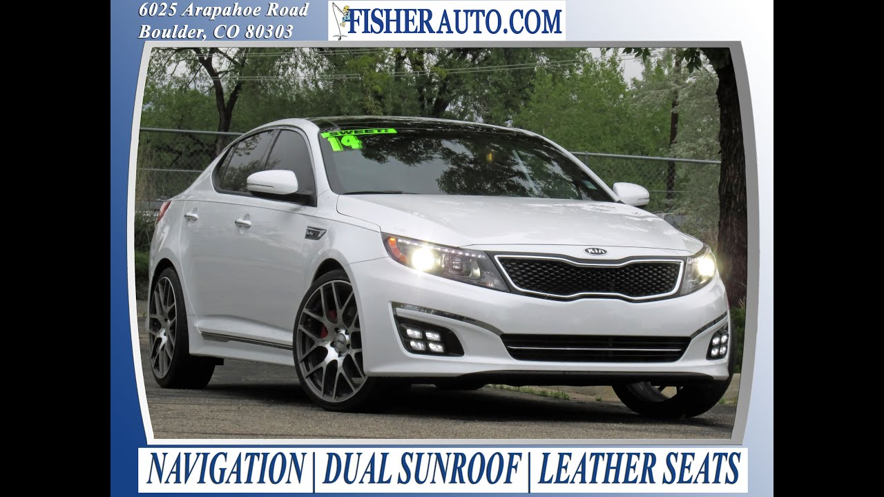 used cars 2014 kia optima sxl turbo boulder longmont denver fisher auto 142242 youtube. Black Bedroom Furniture Sets. Home Design Ideas