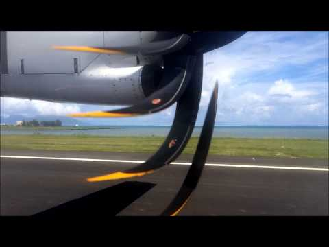 Air Tahiti ATR 72-500 - Papeete, Tahiti to Moorea (Full Flight)