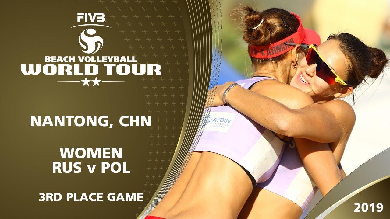 Women's Bronze Medal: RUS vs POL | 2* Nantong (CHN) - 2019 FIVB Beach Volleyball World Tour