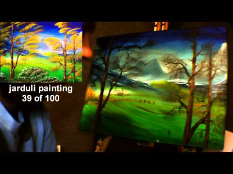 Oil painting demonstration- Beautiful landscape