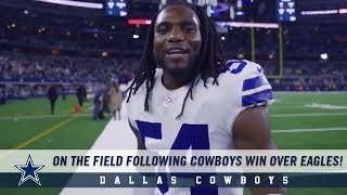 Cowboys Post Game Message From The Field Following Win Over Eagles | Dallas Cowboys 2018