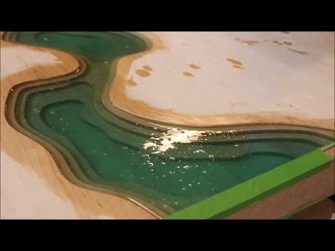 CNC Epoxy river coffee table.