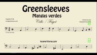 Greensleeves Sheet Music for Cello and Bassoon What child is this Mangas Verdes