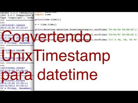 Convertendo Unix timestamp para datetime stamp - YouTube