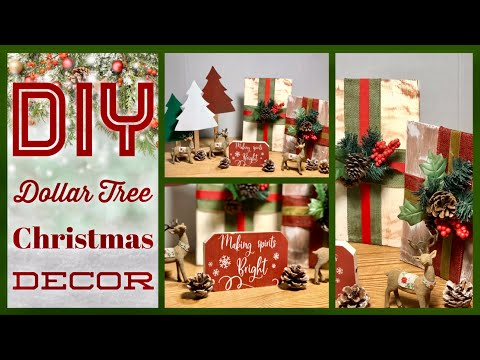 DIY Dollar Tree Rustic Farmhouse Christmas Decor Ideas 2019 - Simple, Cheap And Easy