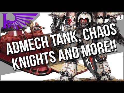 Warhammer Fest Part 1: AdMech Transport, Chaos Traitor Knights, Contrast Paints, And DAKKA REPULSOR!