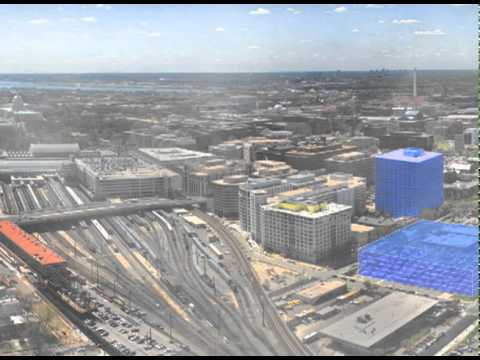 Washington, DC. NoMa District Panoramic Simulation.