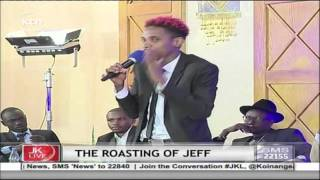 Eric Omondi takes comedy to a whole new level on Jeff Koinange Live