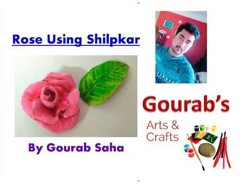 how-to-make-rose-with-shilpkar-  -shilpkar-rose-  -clay-rose-  -flower-making