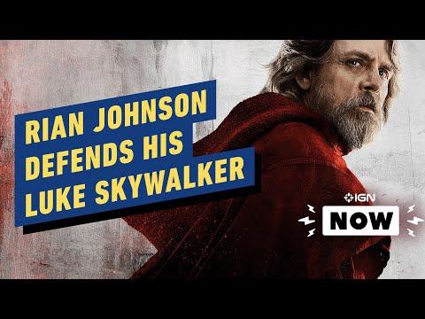 Rian Johnson Defends The Last Jedi's Luke Skywalker - IGN Now