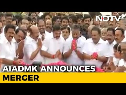 Merger Done, OPS Is Deputy Chief Minister, Wins Sasikala Point
