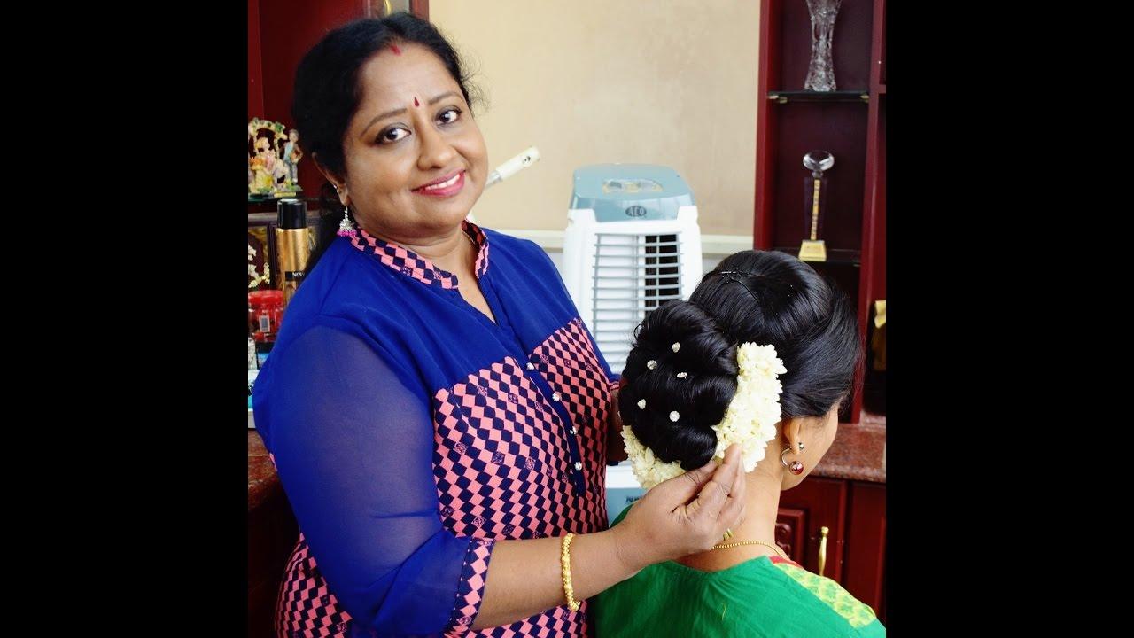 traditional kerala hairstyle (full tutorial)