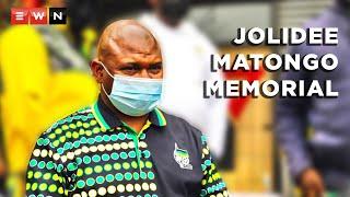 The African National Congress Johannesburg region held a memorial service for the late City of Johannesburg mayor Jolidee Matongo on 21 September 2021.  #JolideeMatongo