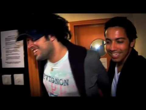 Omar Basaad in the studio with Abdil Fatah Al Gireni
