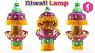 Diwali AKASH Kandil from Waste Basket & Bottle | Diwali Craft Idea By Sonali