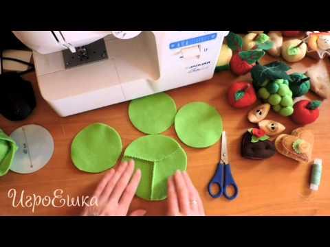 Как сшить овощи и фрукты из фетра