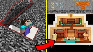 СЕКРЕТНАЯ БАЗА ПОД БЕДРОКОМ В МАЙНКРАФТ ! Нубик построил Троллинг Ловушка Minecraft Мультик