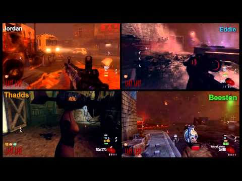 Call of Duty Zombies 4 Player Style!!!